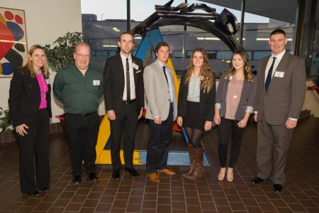 Hudson Valley's Free Enterprise Team and advisors: Jodi Mather, Robert Braathe, Matt Whalen, Durgin McCue, Emily Connolly, Sarah Longton and Jamie Waller.